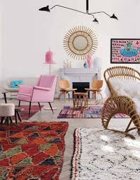 Pink Rugs For Living Room How To Mix Multiple Rugs In The Same Room Emily Henderson