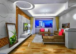 living room led lighting design. False Ceiling Lights With White Led Lamp Lighting And Luxurious Living Room Striped Sectional Sofa Circle Pattern Wall Art Diagonal Backdrop Design I