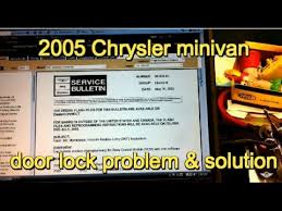 vote no on iod fuse on a chrysler dodg 2005 dodge grand caravan power door lock problem service bulletin 08 028 05