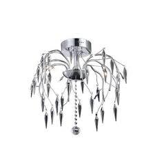 elegant lighting amour 8 light chrome flush mount clear elegant cut crystal v5008f20c ec