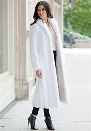 white mink signature full length faux fur coat 4