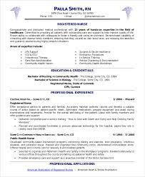 Registered Nursing Resume Sample Nurse Resume 9 Examples In Word Pdf