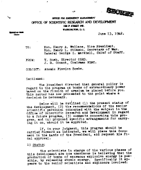 world war ii war department atomic bomb development manhattan 13 1942 memo conveying that scientists in a war department workgroup were unanimous that an atomic bomb could be built