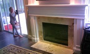 bottom of fireplace