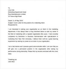 Awesome Collection Of Internship Cover Letter 10 Free Word Pdf ...