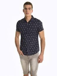 <b>Printed short sleeve</b> shirt | GATE