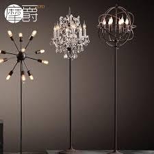get ations wrought iron chandelier vintage designer models retro style loft rh industrial tellurion crystal floor lamp floor