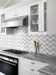 white gray marble mix backsplash tile backsplash gray and white