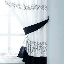 black white checd kitchen curtains