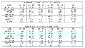 Resting Heart Rate Chart Resting Heart Rate Chart Pulse