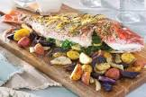baked red snapper greece