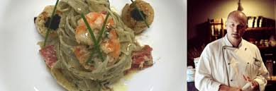 Angelo's Fresh Pasta Products | Angelos Basil Tagliatelle with crab,  prawns, scallops and Chobani Salsa Rojo by Ivan Cook