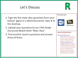 1.Print out the graphic organizer on Main Idea from the link ...