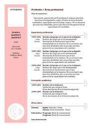 formato curriculo word gallery of curriculum vitae document