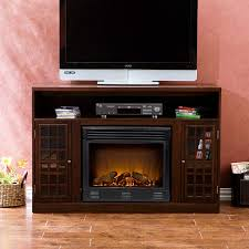 narita media electric fireplace espresso kitchen dining entertainment centers with allen roth stacked stone fireplaces mantle