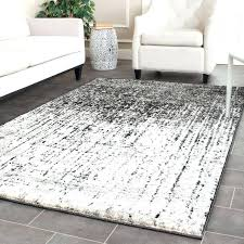 sophisticated 4 x 10 rug retro mid century modern abstract black light grey distressed rug 4