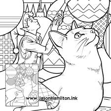Make your world more colorful with printable coloring pages from crayola. Painting Cat Coloring Page With Tutorial Pdf Instant Etsy
