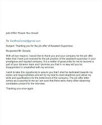 Thanks For Offer Letter Final No Job Offer Thank You Letter Response Interview
