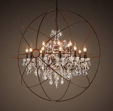 restoration hardware lighting knockoffs. copy cat chic: restoration hardware foucault\u0027s orb crystal iron chandelier lighting knockoffs