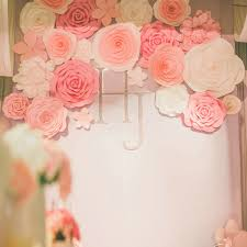 Paper Flower Background Us 149 98 35pcs Giant Paper Flower Set Large Flower Big Paper Flower For Wedding Party Background Flower Wall Backdrop Decoration In Artificial
