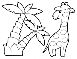 Baby Animals Coloring Page Free Zoo Animal Pages Printable Cute