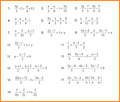 7 solving linear equations with fractions star student equation worksheets answers 1 jpg