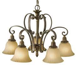 feiss kelham hall british bronze 5 light downlight chandelier scavo glass shades