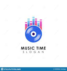 Free Dj Logo Design Software Dj Music Logo Design With Vinyl Disc Illustration Vinyl