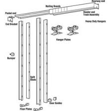 sliding door hardware. Hager Heavy Duty Pocket Door Kit - 150 Lbs 7 (2134 Mm) Sliding Hardware