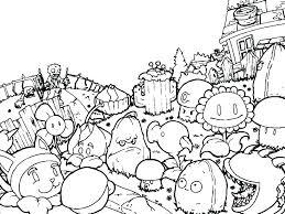 Plants Vs Zombies Coloring Pages All Peashooter 2 Pag Staranovalja