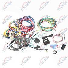 universal wiring harness ebay Ford Wiring Harness 21 circuit wiring harness chevy mopar ford hotrods universal extra long wires ford wiring harness kits