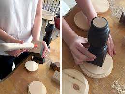Wood Candle Holders DIY made from Spindles