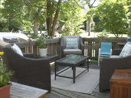 best decorating ideas with target outdoor rugs wonderful outdoor patio with dark wicker armchairs also
