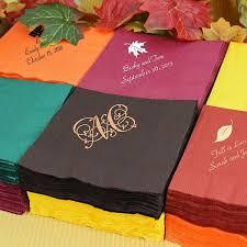 custom personalized napkins. custom printed fall theme cocktail napkins set of 50 personalized e