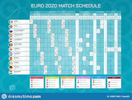 Euro 2020 Match Schedule With Flags. Euro 2020 Football Championship,  Vector Illustration - Template For Web And Print. Stock Vector -  Illustration of france, finland: 169847968