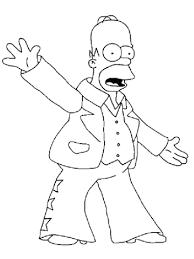 Homer Simpson Kleurplaat Gratis Kleurplaten Printen