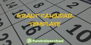 Grant Calendar Template Free Download Productive
