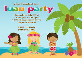 Kids Luau Birthday Party Invitation Package | Birthday party ...