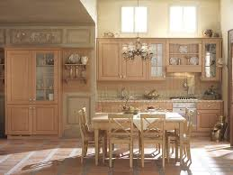 Beech Solid Wood Kitchen Cabinet With A Dining Table