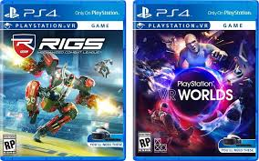 sony ps4 games. best buy lists rigs for $49.99 and playstation vr worlds $39.99, lower than the typical retail price ps4 games. a listing batman arkham sony ps4 games