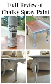 spray painting wood furnitureReview of Chalky Spray Paint