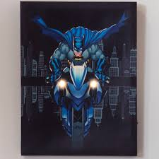 on star trek lighted canvas wall art with dc comics batman batcycle lighted canvas wall art