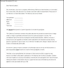 Permission Slip Templates Field Trip Forms Letter Template