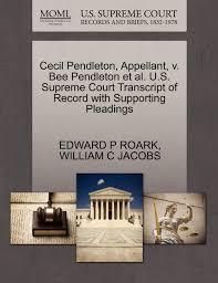 Cecil Pendleton, Appellant, v. Bee Pendleton et al. U.S. Supreme ...