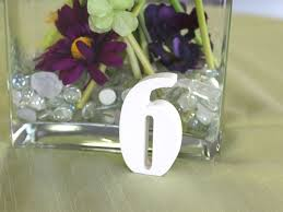 font bernard mt condensed color white standing wood table numbers weddingcuts