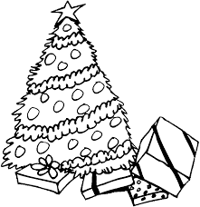 Small Picture Christmas Tree To Color Free Printable Coloring Pages For Kids