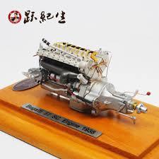 Engine Display Stand Best Buy CMC 32328 Bugatti 32SC Alloy Engine Model Engine Test Sika
