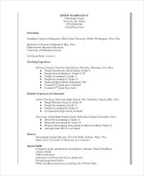 Example Teacher Resume Custom Teacher Resume Examples 40 Free Word PDF Documents Download