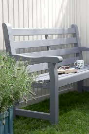 Bench painted wooden garden bench Garden Table And Bench Set Wood