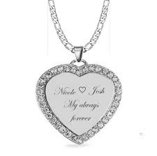 small gold heart cubic zirconia necklace